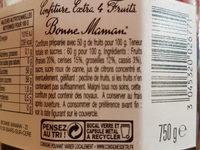 Confiture 4 Fruits - Ingrédients - fr