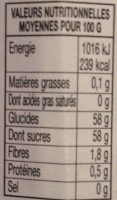 Confiture 4 Fruits - Informations nutritionnelles - fr