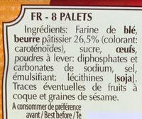 Palets Bretons Pur Beurre - Ingrediënten - fr