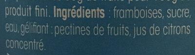Confiture allégée de Framboises - Ingrediënten