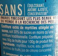 Confiture myrtilles - Ingrédients - fr