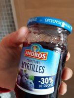 Confiture myrtilles - Informations nutritionnelles - fr