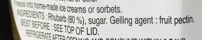 Rhubarb Compote - Ingrediënten