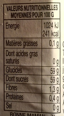 Prunes - Nutrition facts