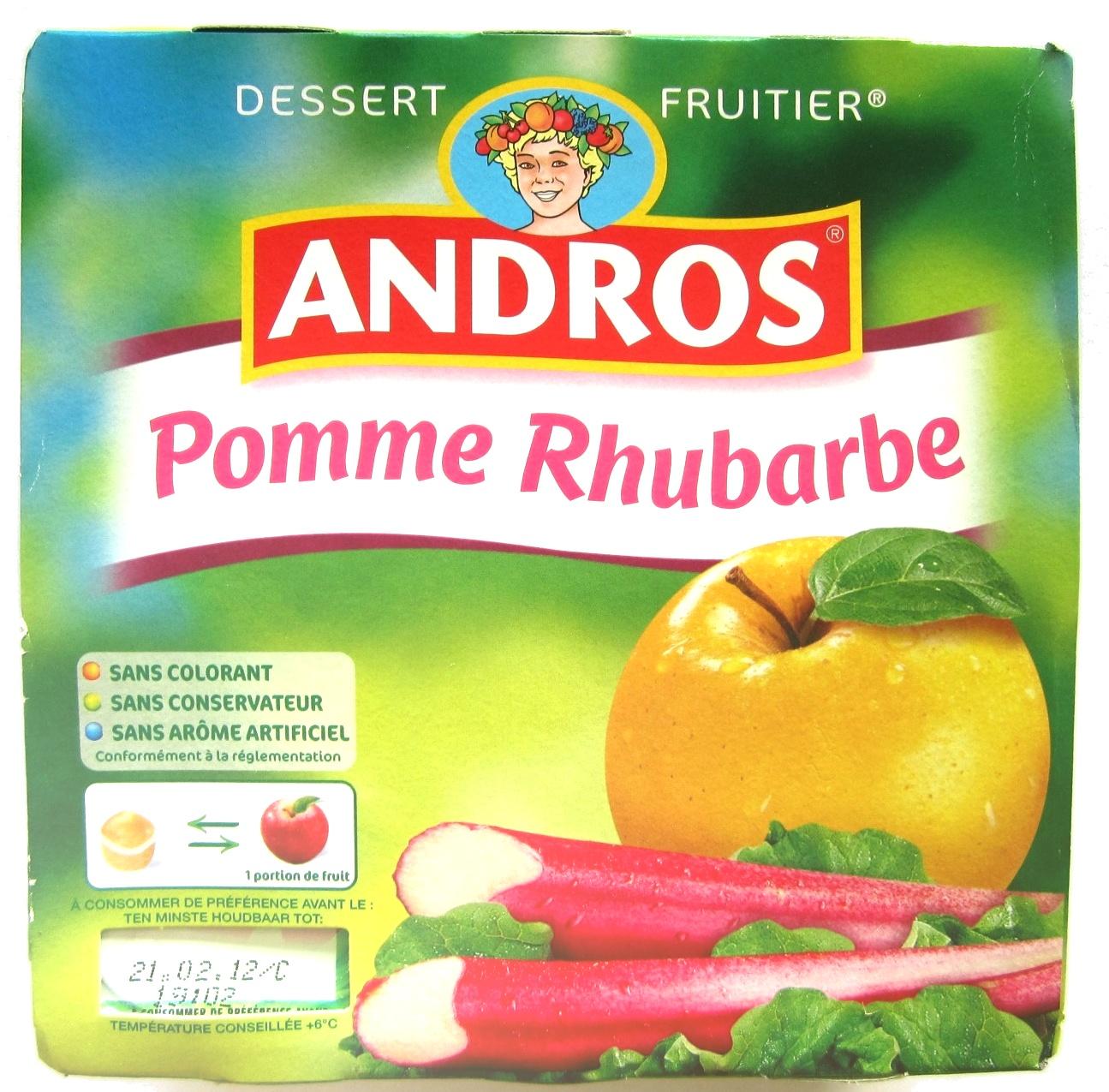 Pomme Rhubarbe - Produit