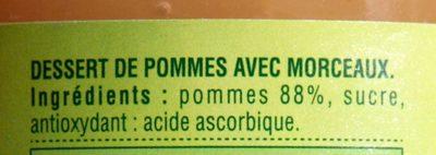 Compote de pommes morceaux - Ingredients - fr