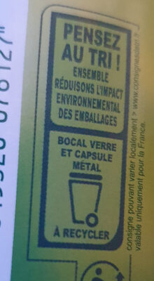 Compote de pommes morceaux - Recycling instructions and/or packaging information - fr