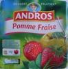 Dessert Fruitier® Pomme Fraise (4 pots) 400 g - Andros - Produit