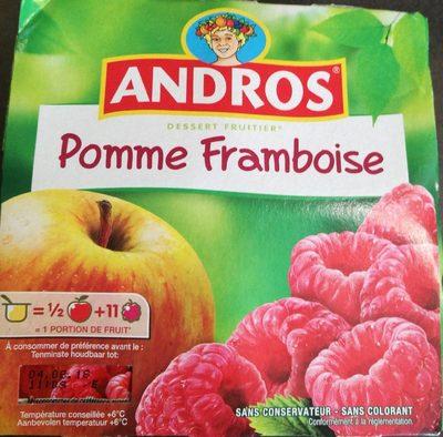 Dessert fruitier pomme framboise - Produit - fr