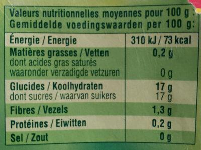 Pomme Nature - Dessert fruitier - Nutrition facts - fr