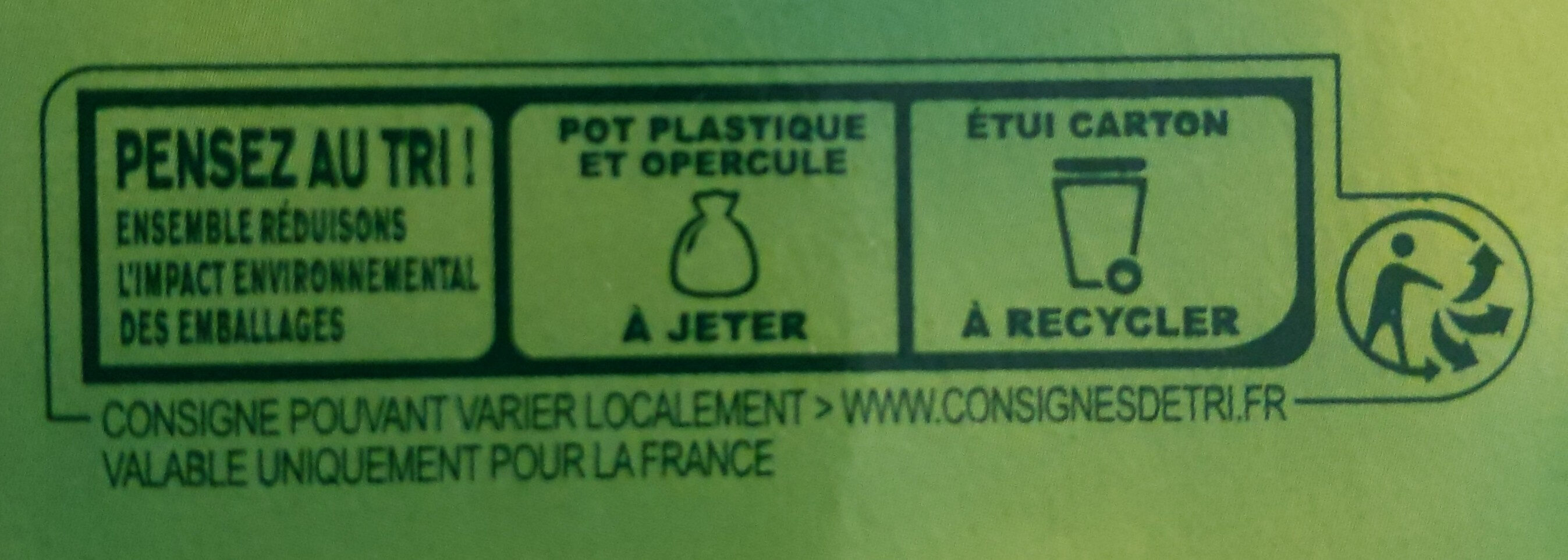 Pomme Nature - Dessert fruitier - Recycling instructions and/or packaging information - fr