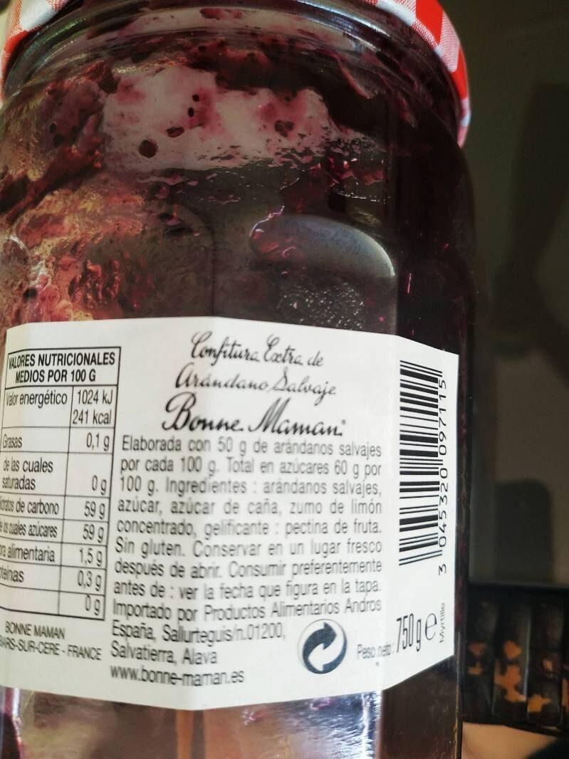 Confitura de arándano salvaje - Ingredienti - es