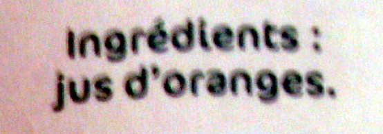 Oranges pressées - Ingredients