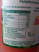 Pamplemousses roses Pressés - Ingredients