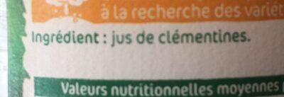 Jus de clémentines - Ingrediënten - fr