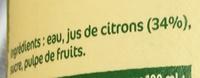 Citrons pressés - Ingrédients