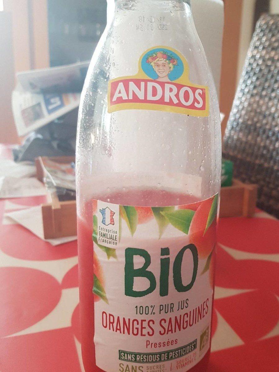 100% pur jus d'Oranges sanguines BIO pressées - Produit