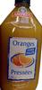 Oranges pressées sans pulpe - Produit