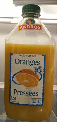 100% pur jus d'Oranges pressés sans pulpe - Product