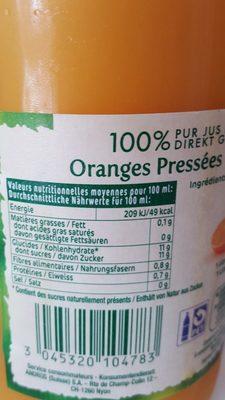 Oranges Pressées - Ingrediënten