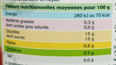 Fruits au sirop griottes dénoyautées - Informations nutritionnelles - fr
