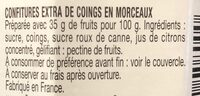 Confiture coings en morceaux - Ingredienti - fr