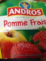 Dessert pommes fraises x8 - Ingrediënten - fr