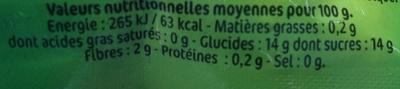 P'tit Dros Pomme Nature - Voedingswaarden