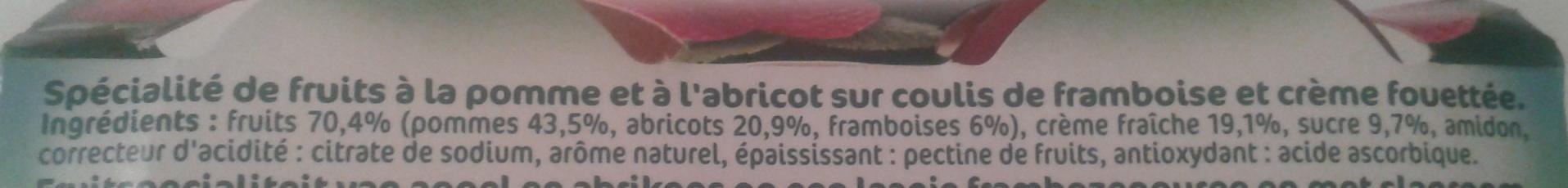Liegeois de fruits - Ingrediënten - fr