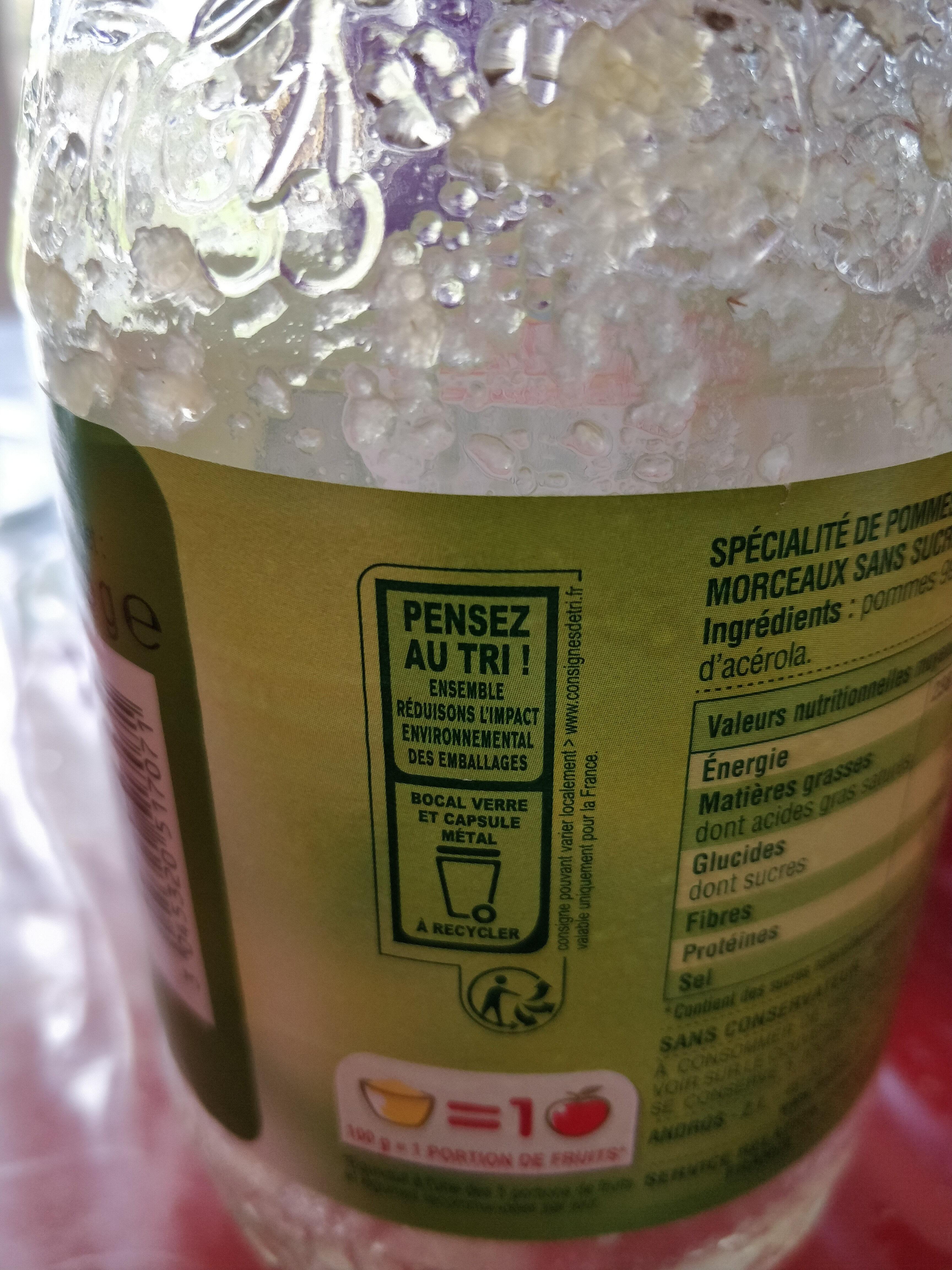 Compote Pomme Nature - Istruzioni per il riciclaggio e/o informazioni sull'imballaggio - fr
