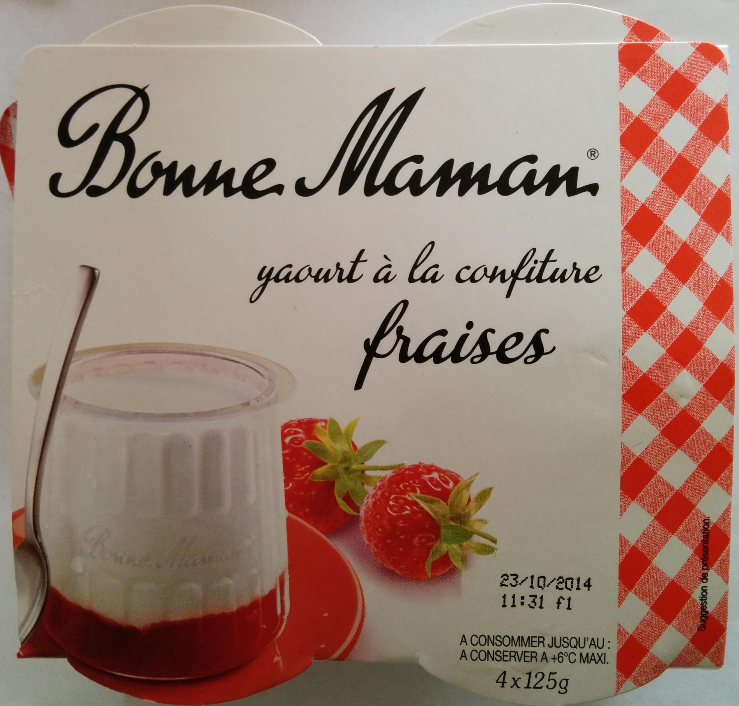 Yaourt à la confiture de fraises - Product