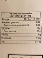 yaourt à la vanille naturelle - Informations nutritionnelles - fr