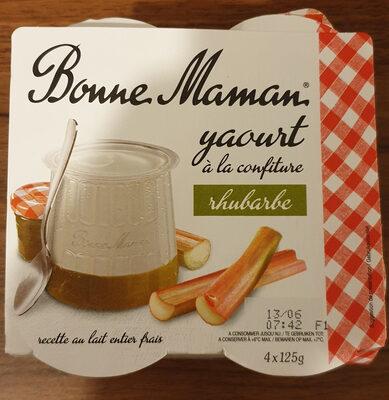 Yaourt a la confiture rhubarbe - Produit
