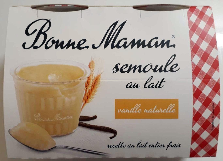 Semoule au lait à la vanille naturelle - Product