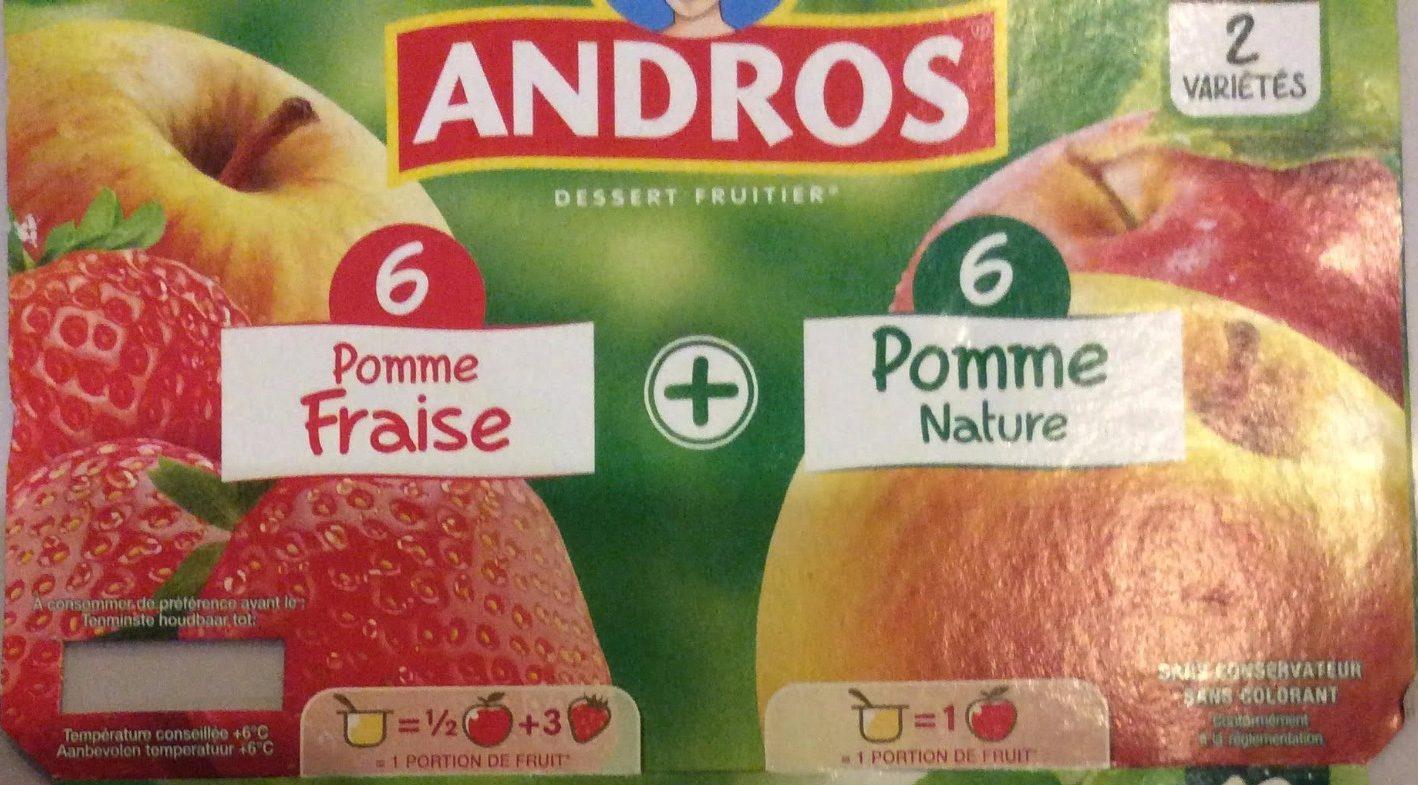 Compotes Pomme Fraise et Pomme Nature - Produit - fr