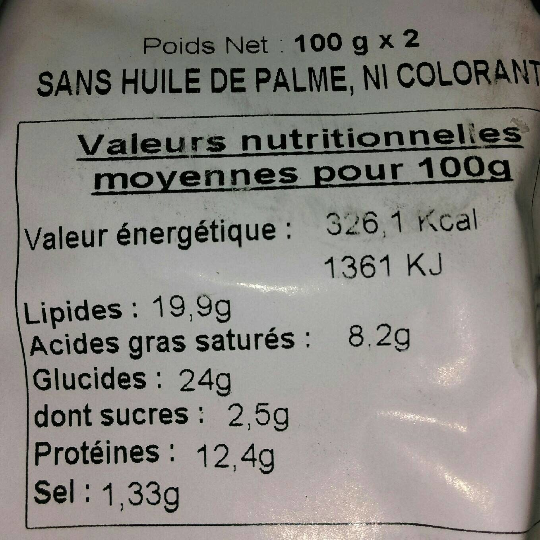 Pâté de viande - Voedingswaarden