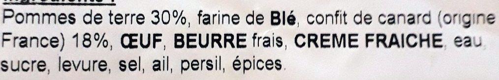 Tourte au Confit de Canard - Ingrédients - fr