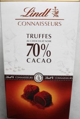connaisseurs truffes au chocolat noir 70 cacao lindt 250 g. Black Bedroom Furniture Sets. Home Design Ideas