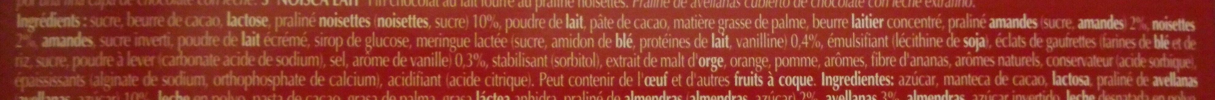Champs Élysées Lait - Ingredients