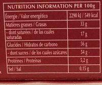 Champs Élysées Lait - Nutrition facts