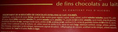 Champs-Elysées Lait - Ingredients - fr