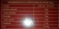 Champs-Elysées Lait - Nutrition facts - fr