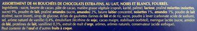 Assortiment chocolats Champs-Elysées - Ingrédients - fr