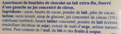 Les Pyrénéens Les Frappés Lait Citron - Ingrédients