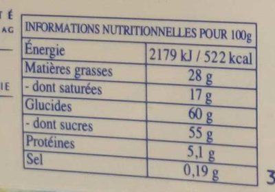 Les Pyrénéens Les Frappés Lait Citron - Informations nutritionnelles