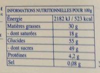 Les Pyrénéens Les Frappés Framboise - Informations nutritionnelles