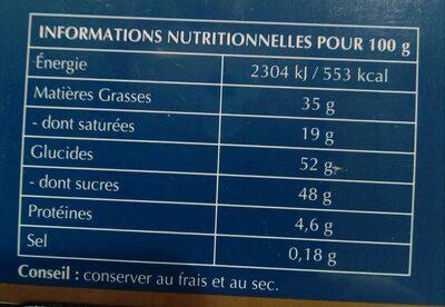Chocolats FINS PALETS - Voedingswaarden - fr