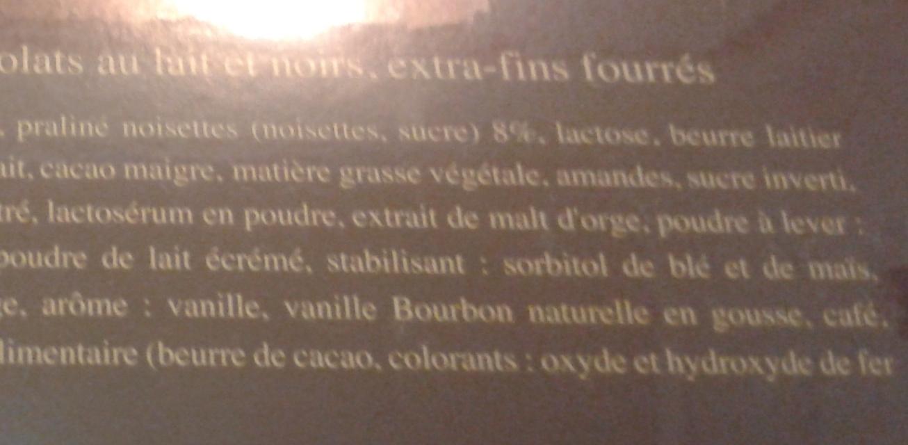 Lindt Variations cacao - Ingrédients - fr
