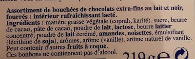 Les Pyrénéens - 30 lait+noir - Ingredients