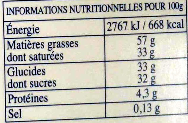 Les Pyrénéens - 30 lait+noir - Nutrition facts